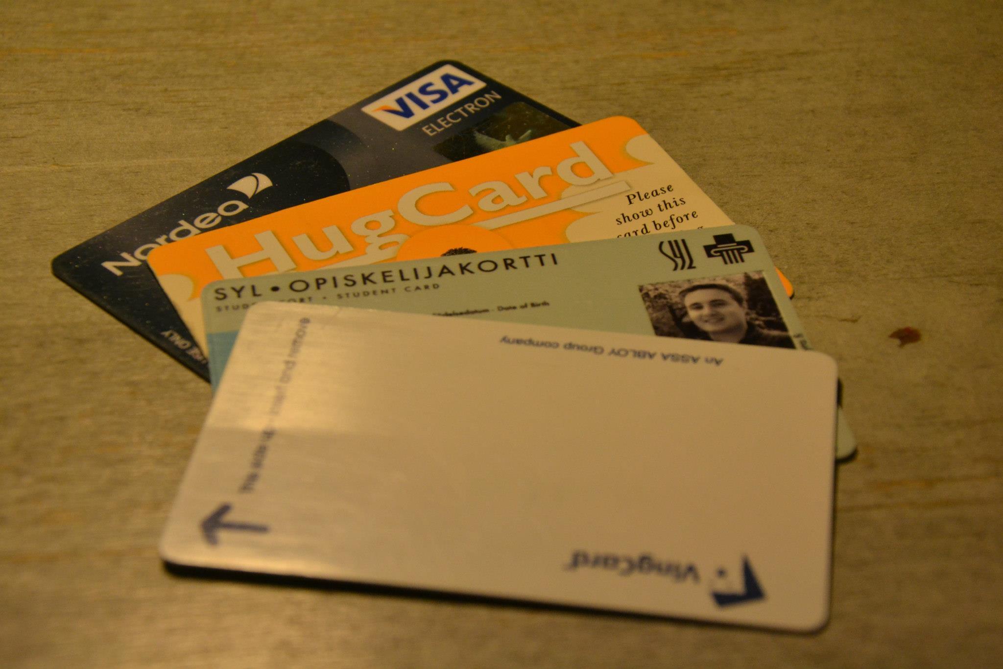 Čtyři důležité karty, které jsem potřeboval téměř denně.
