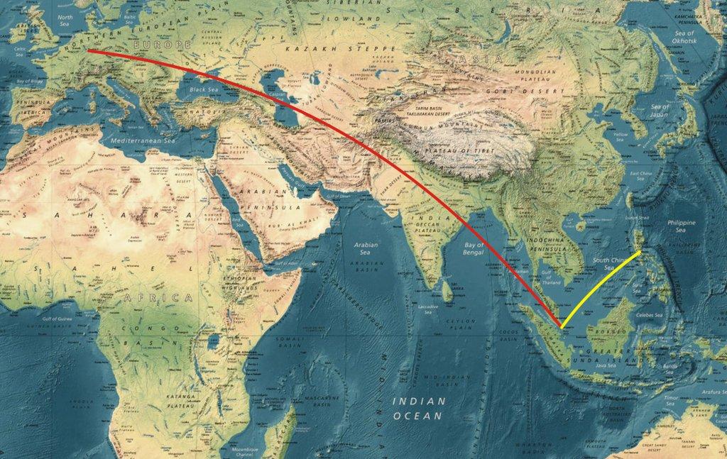 let na Filipíny přes Singapore