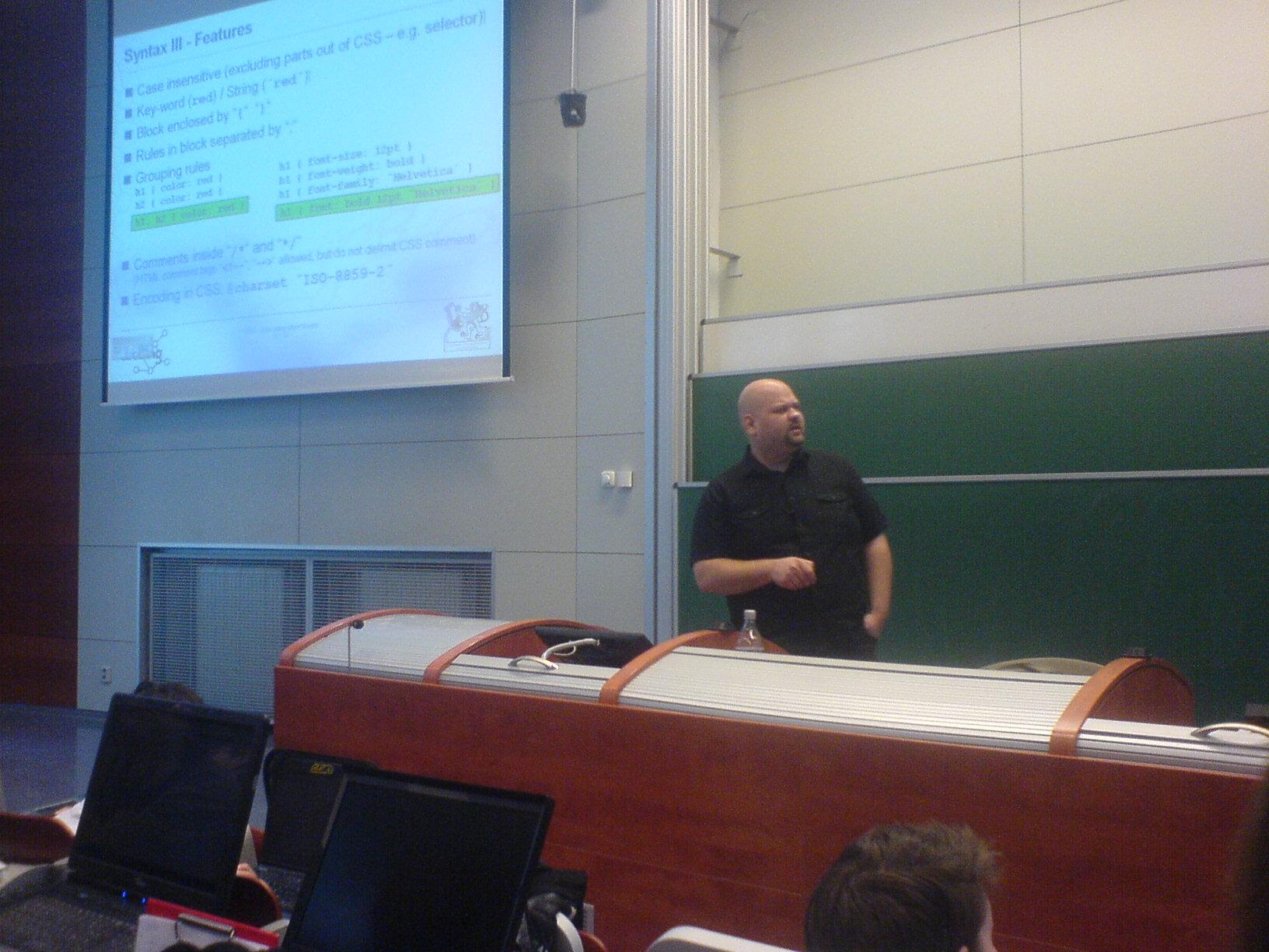 Ing. Lukáš Bařinka - přednášející o CSS.