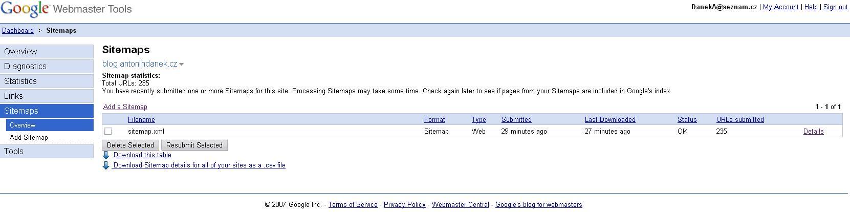Jak se dostat do vyhledávače? - sitemap.xml