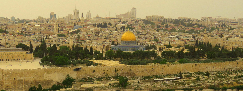 pohled na Jeruzalém z Olivetské hory