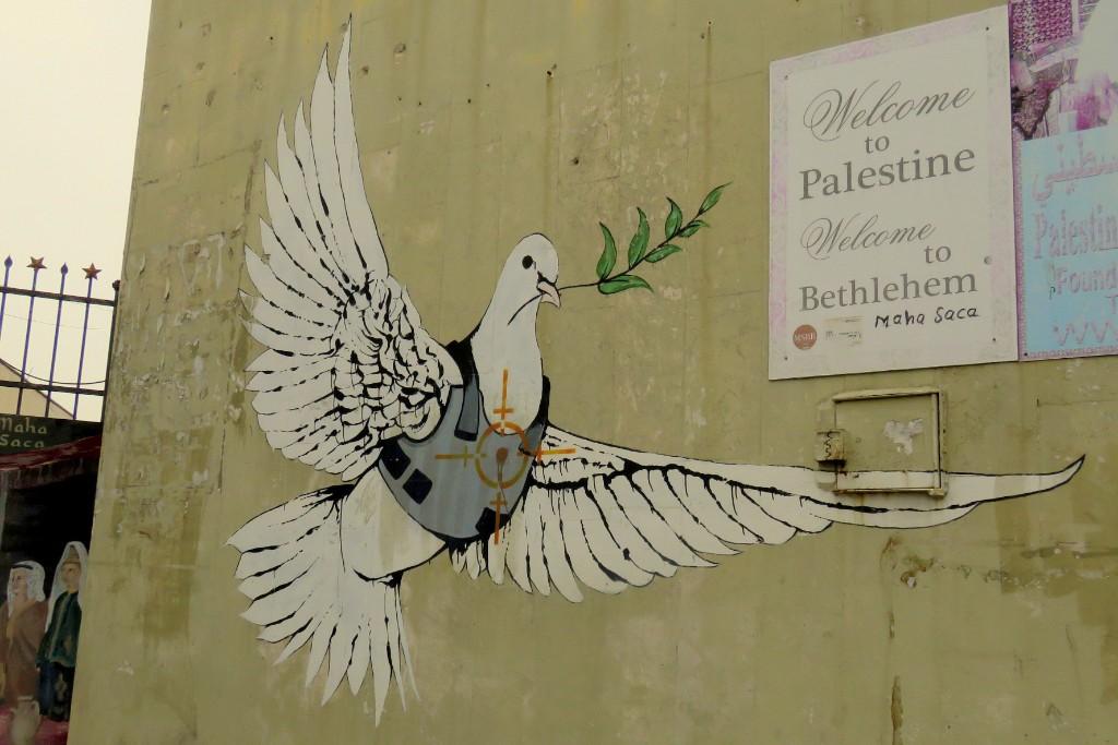 Banksyho graffiti v Betlémě