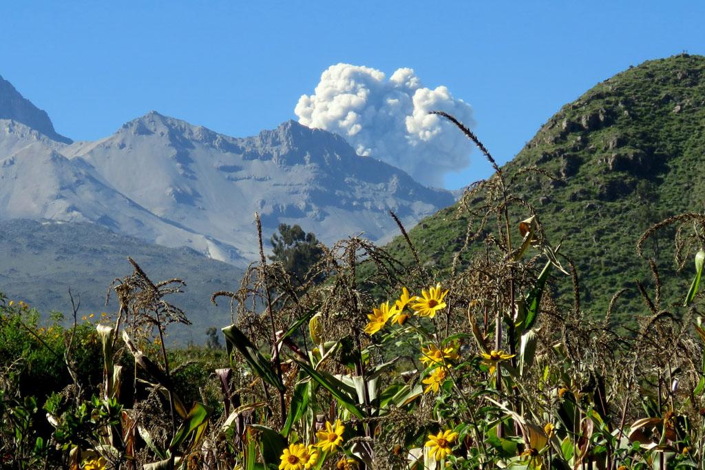 chrlící sopka Sabancaya