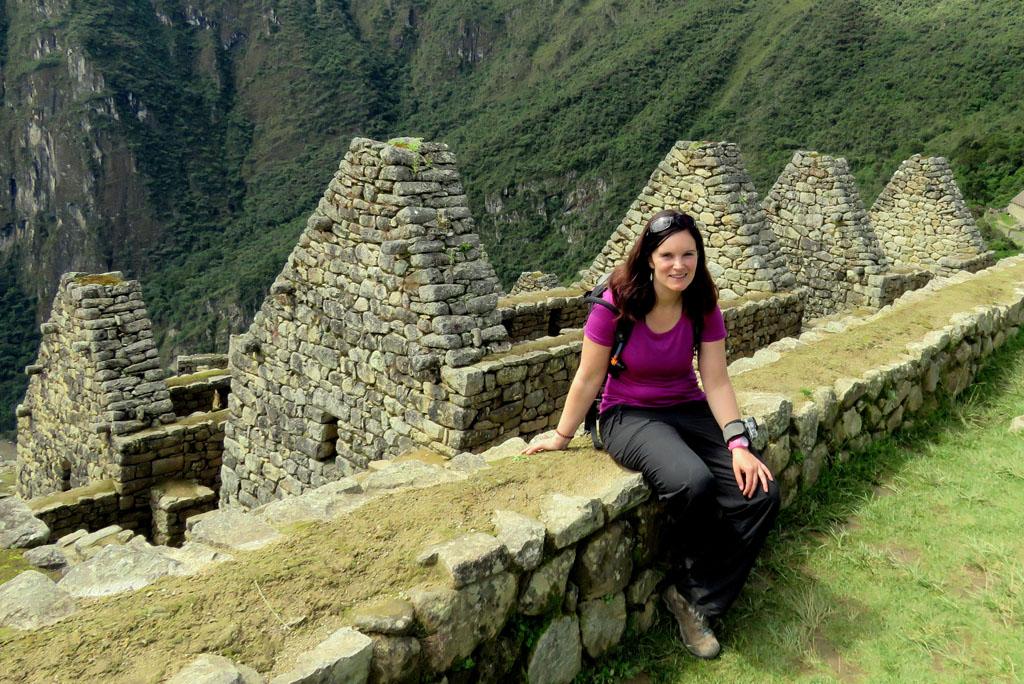 autorka na Machu Picchu