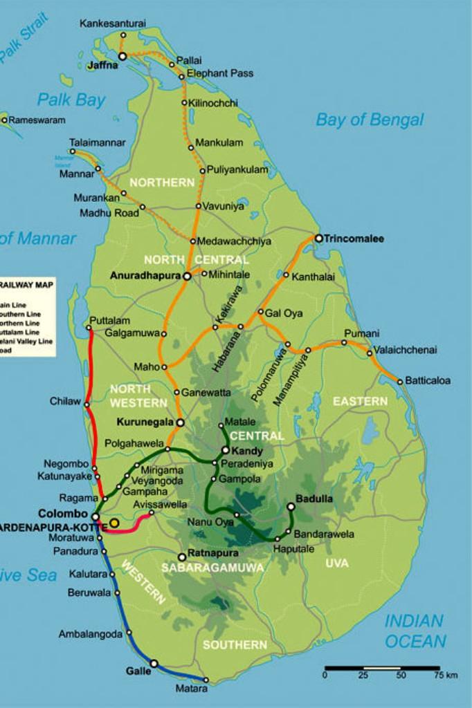 mapa Srí Lanky