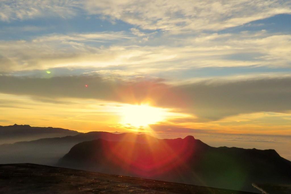 svítání na Adam´s Peak