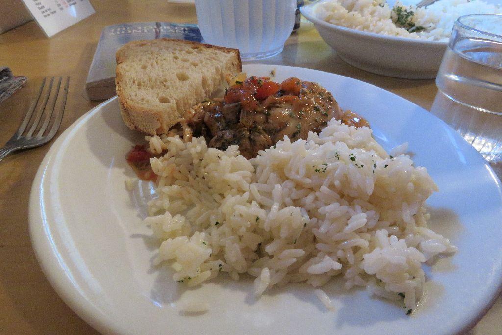 večeře v Refuge de Balme
