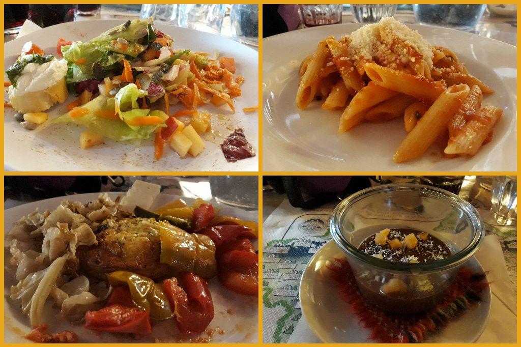 večeře v Rifugio Bonatti