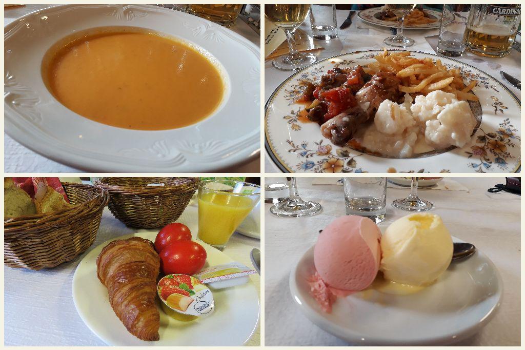 večeře a snídaně v hotelu Col de la Forclaz