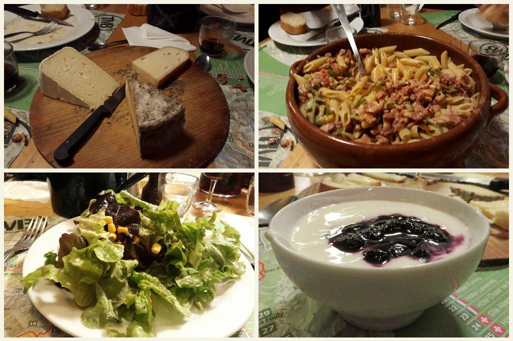 večeře v Auberge La Boerne