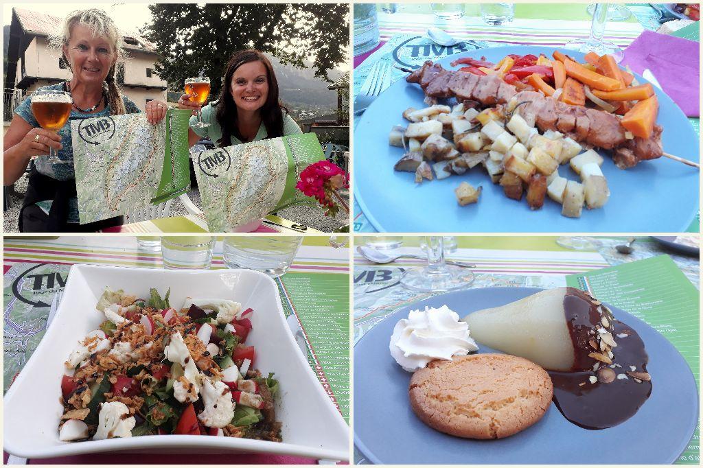 večeře v Gite Michel Fagot